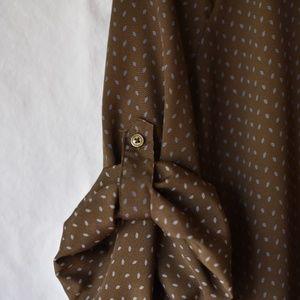 Ann Taylor LOFT 3/4 cuff sleeve blouse tunic Med